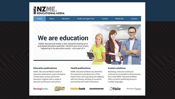 Image of the NZME Educaional Media website